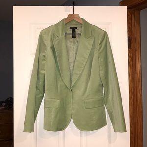 Kenneth Cole Light Green Velvet Blazer